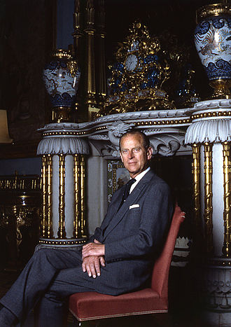 Buckingham Palace - The Duke of Edinburgh in the Chinese Luncheon Room