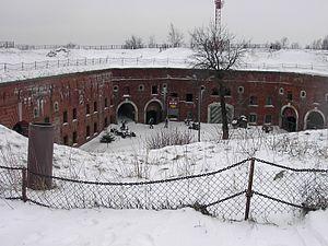 Fort Srebrna Góra - Fort in the winter
