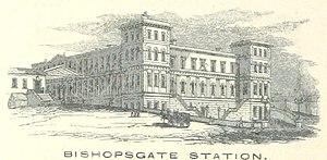 Bishopsgate railway station - Image: ECR(1851) p 16 Bishopsgate Station