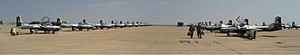 Cessna T-37 Tweet - A panorama of T-37s at Sheppard AFB in 2007 operated as part of the Euro-NATO Joint Jet Pilot Training Program.