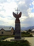 Eagle with sword and cross, Spitak.JPG