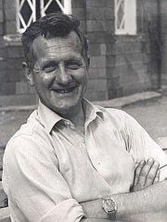 John Angelo Jackson - Photograph of John Angelo Jackson in the early 1960s in the grounds of Plas-y-Brenin, during his tenure as Director of the facility.