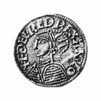 Anglo-Saxon London - A coin probably minted in London during the reign of Ethelred the Unready