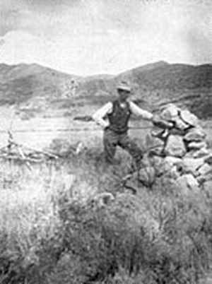 Remembrances of the Mountain Meadows massacre - Image: Early Mountain Meadows cairn