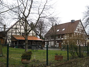 Eberholzen - Half-timbered houses in the village center.