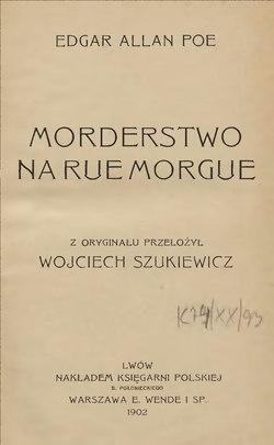 Morderstwo Na Rue Morgue Zbiórcałość Wikiźródła Wolna Biblioteka