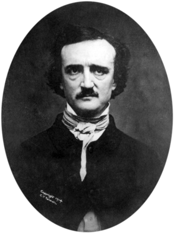"1848 ""Ultima Thule"" daguerreotype of Poe Edgar Allan Poe 2 retouched and transparent bg.png"