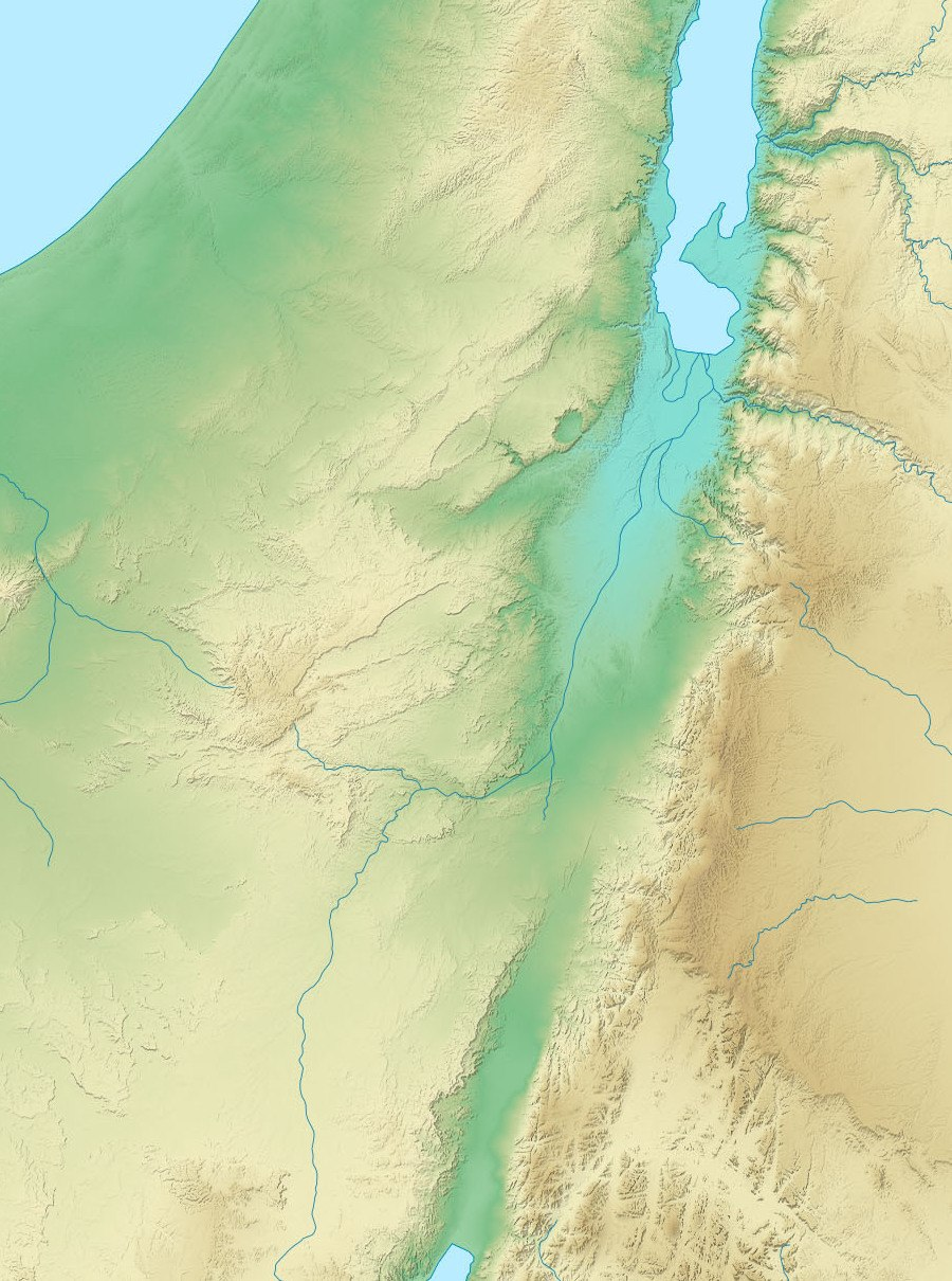 Edom relief map