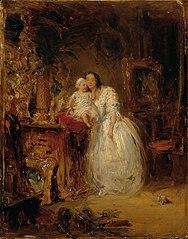 Gattin und Tochter des Künstlers
