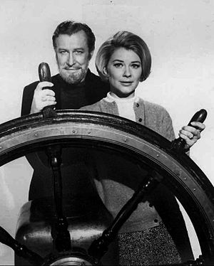 Edward Mulhare - Mulhare and Hope Lange in The Ghost and Mrs. Muir, in 1968.