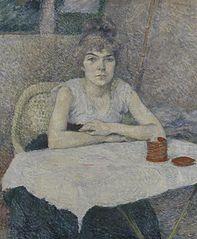 Young Woman at a Table, 'Poudre de riz'