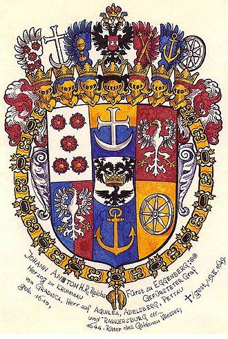 Eggenberg family - Arms of Prince Johann Anton I of Eggenberg