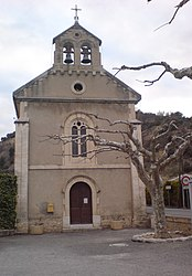 The church of Saint-Nicolas, in Bras-d'Asse