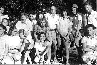 "Ein Shemer - Members of Yiftach Brigade 1st Battalion, ""D"" company, training at Ein Shemer in 1947"