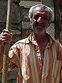 Elderly Farmer - Elderly Farmer Plays Grim Reaper - Village of Kis - Near Sheki - Azerbaijan (18081484418).jpg