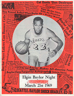 Elgin Baylor Night program