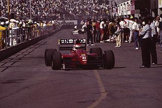 Dallara F191 - Emanuele Pirro in the 191 at the 1991 United States Grand Prix