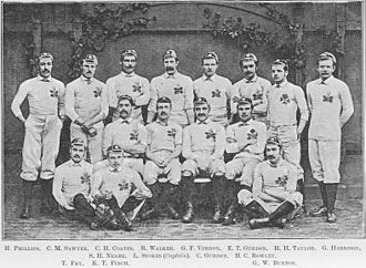 History of the England national rugby union team - The 1880 England national team.
