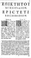 Epictetus Enchiridion 1683 page1-2.png