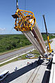 Erection of the Atlas V first stage for RBSP launch.jpg