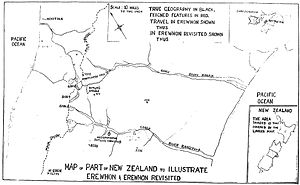 Erewhon - Map of part of New Zealand to illustrate Erewhon and Erewhon Revisited