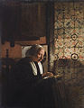 Esaias Boursse (Dutch, 1631-1672) «Old woman doing needlework».jpg