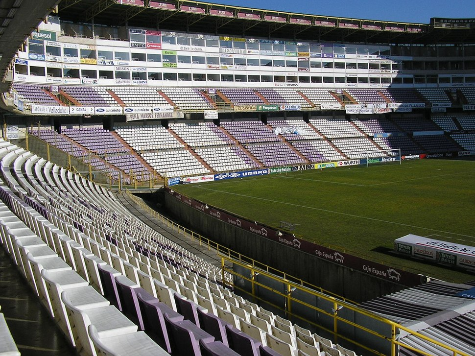 Estadio José Zorrilla desde Preferencia A