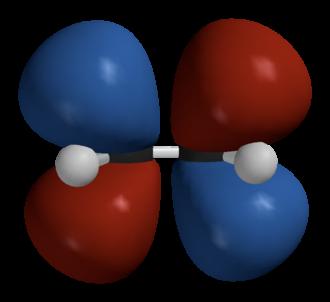 Hückel method - Image: Ethylene LUMO Spartan 3D balls