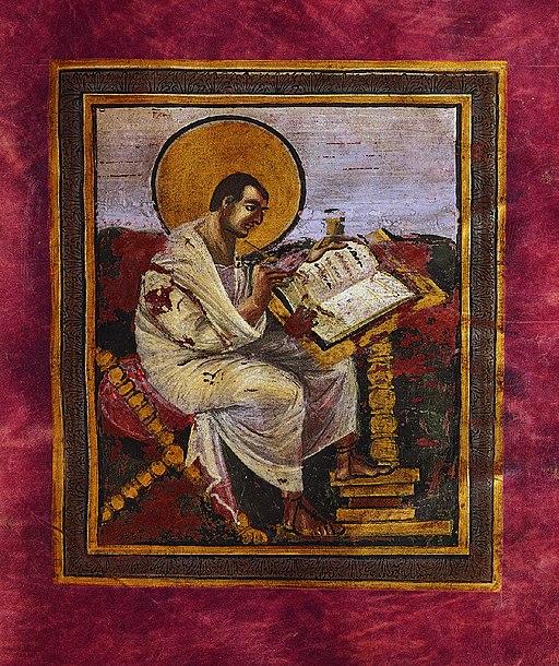 Evangeli dell'incoronazione (evangelista Matteo), Vienna, Kunsthistorisches Museum