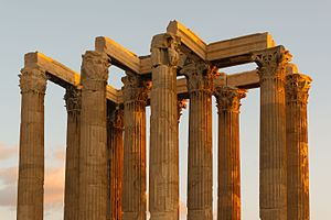 Evening columns Zeus temple Athens.jpg