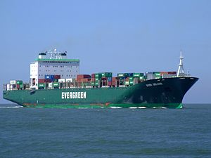 Ever Deluxe p2 approaching Port of Rotterdam, Holland 04-Aug-2007.jpg