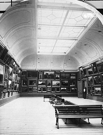 Montreal Museum of Fine Arts - Exhibition room, Art Gallery, Montreal, 1879