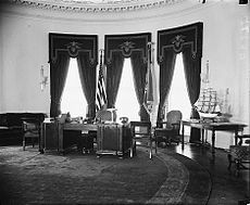 history of the oval office. the newly built fdr oval office in 1934 history of