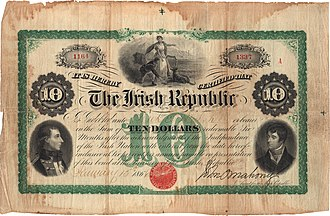 Fenian Brotherhood - Ten dollar Fenian bond.