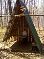 FLT M19 10.51 mi - A-frame privy at Foxfire Lean-to - panoramio.jpg