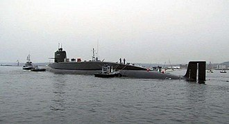 The Redoutable, the first French nuclear missile submarine. FS Redoutable.jpg