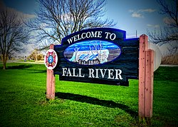 Fall River, Wisconsin Entrance Sign
