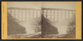 Falls & Bridge, Portage, N.Y, by Knight, W. M., 1841-1881.png