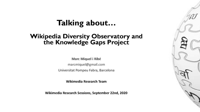 File:Feedback on Knowledge Gaps Taxonomy - Diversity Observatory and Knowledge Gaps Project.pdf