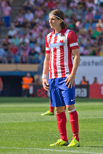 Filipe Luís - Filipe Luís during a match with Atlético Madrid in September 2013