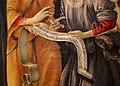 Filippino lippi, madonna col bambino e angeli, 1485-86, 07 rotolo.jpg
