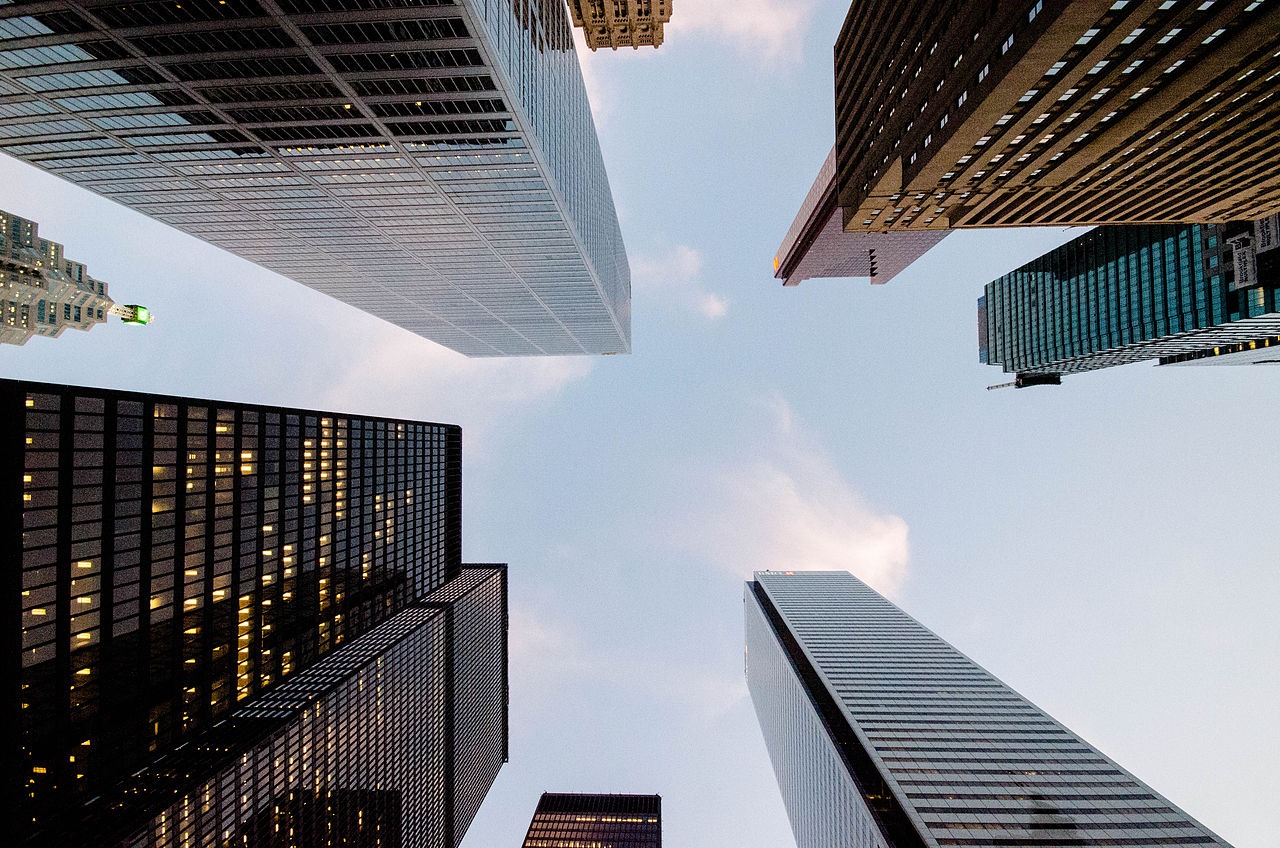 The Financial District captures the best and brightest of Toronto (Image Credit: Chris Tyler, Wikimedia)