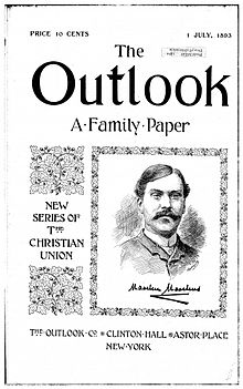 up from slavery  first cover of the outlook newspaper