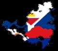 Flag map of Saint Martin & Sint Maarten (Local Flags).png