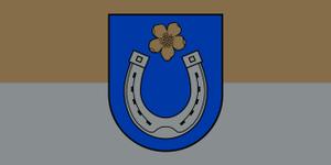 Pskov Oblast - Image: Flag of Ciblas novads