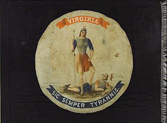 Flag and seal of Virginia - Image: Flag of Virginia (1861)