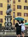 Florence, Ponte vecchio Monument to Benvenuto Cellini 002.JPG