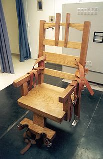 Electric chair Execution method