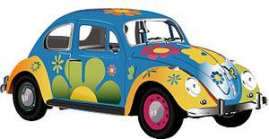 VW Bug - Flower Power Hippie Paint Job
