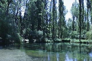 Clitunno river in Italy
